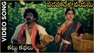 Kattu Kathalu Video Song | Padaharella Vayasu Movie | Sridevi | Chandra Mohan | K. Chakravarthi - RAJSHRITELUGU
