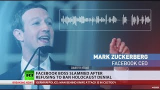 Zuckerberg slammed for refusing to ban Holocaust denial on Facebook - RUSSIATODAY
