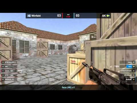 CS 1.6: Copenhagen Games 2012 semi-final SK vs WinFakt epic defuse de_mirage