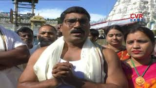 Congress MLA Sampath Kumar Visits Tirumala | CVR News - CVRNEWSOFFICIAL