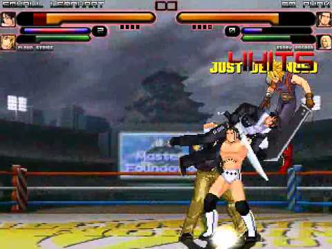 TK's Random Mugen Battle #1114 - Squall Leonhart & Cloud Strife VS CM Punk & Terry Bogard