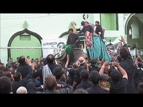 10th muharram in hyderabad india 2013 (Bibi ka Alam Procession).