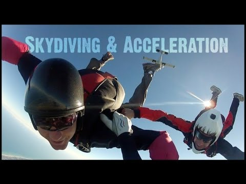 Skydiving and Acceleration - The Question