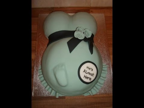 How to Make a Pregnant Belly Cake