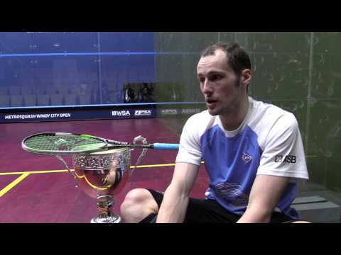 Squash: Greg Gaultier Post-Game Interview Windy City Open Final