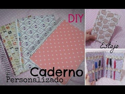 DIY - Volta às aulas: Caderno personalizado e estojo diferente!