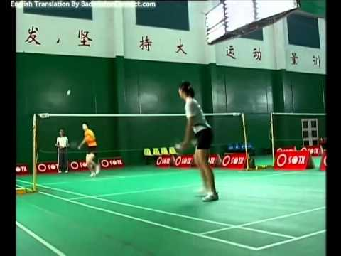 31 Chen Weihua Badminton Training - Shot Control Exercise (1) Smash and Net Rush Drill (English Sub)