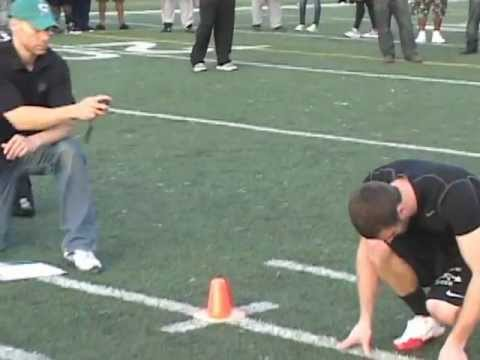 Huntingdon College Cody Pearcy  Pro Day  2012. @ Alabama State Universty
