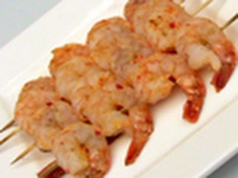 Barbecue Prawns / Shrimp Skewers Recipe