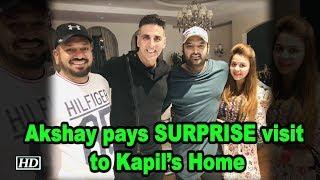 Akshay Kumar pays SURPRISE visit to Kapil Sharma's Home - IANSLIVE