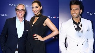 Sonam Kapoor and Ranveer Singh with legendary Tommy Hilfiger - EXCLUSIVE