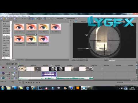 Sony Vegas Moive Studio HD Platinum 10 | Tutorial w/voice | OpTiC Predator lock on & border effect