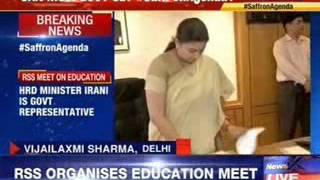 HRD Minister Smriti Irani attends RSS education meet - NEWSXLIVE