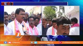 TRS Candidate Niranjan Reddy Face TO Face Over Election Campaign In Wanaparthy | iNews - INEWS