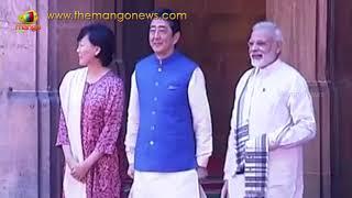 PM Modi Visits Sidi Saiyyed ki Jaali with Prime Minister Shinzo Abe of Japan | Mango News - MANGONEWS