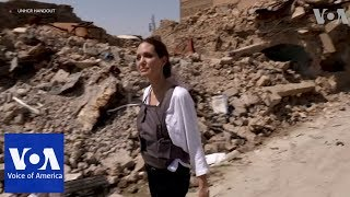 Jolie Visits Mosul - VOAVIDEO