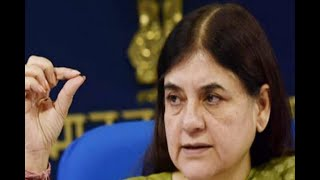 In Graphics: Minister Maneka Gandhi Abused supply inspector in a public meeting - ABPNEWSTV