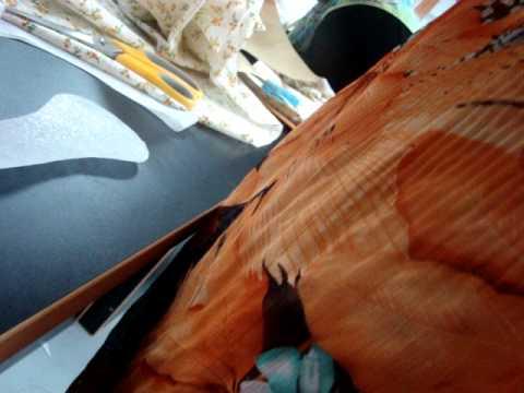 jahit jubah--leher