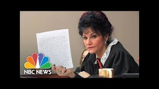 Judge Rosamarie Aquilina Slams Larry Nassar's Letter About Sentencing | NBC News - NBCNEWS