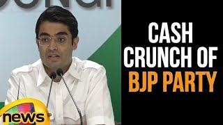 AICC LeaderJaiveer Shergill Press Briefing on Cash Crunch OF BJP Party | Mango News - MANGONEWS