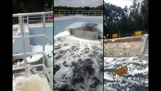 Bellandur's toxic froth reaches kolar canal; Will netas wake up & act? - NEWSXLIVE
