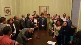 فيديو| محافظ الإسكندرية يحضر صلح صيادو مريوط مع شركة العامرية