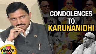 TDP MP Sujana Chowdary Condolences To DMK Chief Karunanidhi | Mango News - MANGONEWS