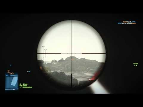 Battlefield 3 Sniper kill - 785 Marksman (Behind a wall)