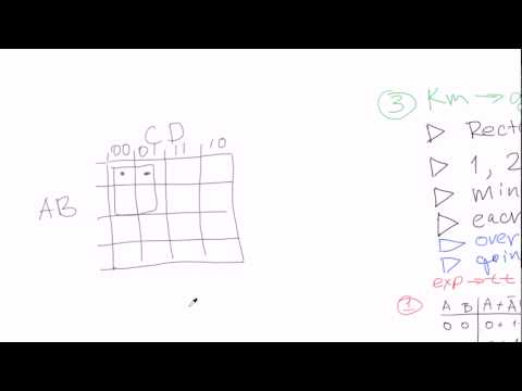 Boolean algebra #18: Karnaugh maps - grouping (continued)