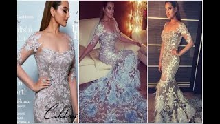 In Graphics: Sonakshi Sinha looks pretty in white gown, see pics - ABPNEWSTV
