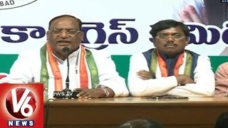 Congress Leaders Speak On KCR's Behaviour - V6NEWSTELUGU