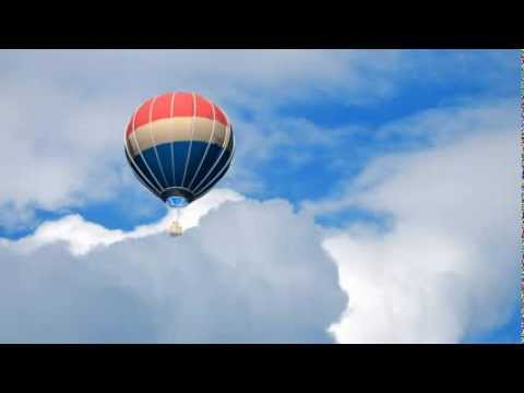 balloon flight - blue screen effect