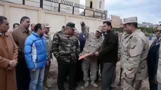 شاهد-محافظ الإسكندرية وقائد المنطقة الشمالية يتفقدان مشروع