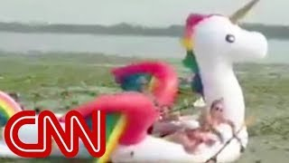 Women's rescue on a unicorn goes viral - CNN