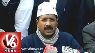 AAP Kejriwal Asks Public Opinion on BJP and Congress Support - V6NEWSTELUGU
