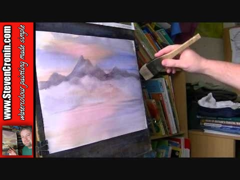 Learn How to Paint Mountains in Watercolor #1