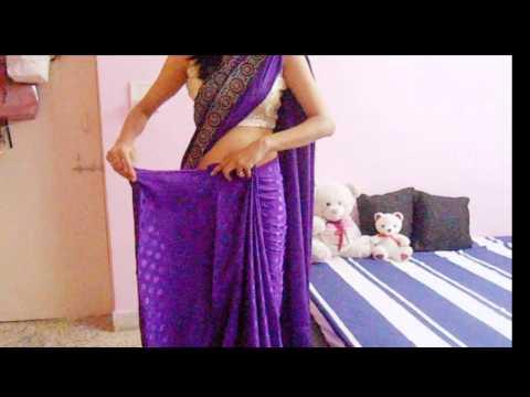 How To Wrap A Saree-How To Drape A Saree On Backless Blouse/Wear Saree Look Slim