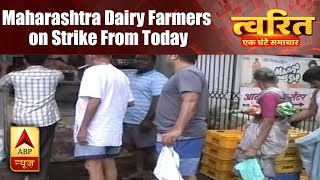 Twarit Mahanagar: Maharashtra dairy farmers on strike today as milk prices go up by Rs. 3 - ABPNEWSTV
