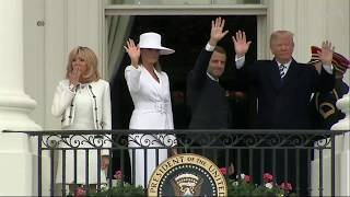 Trump Welcomes French President Macron to White House - VOAVIDEO
