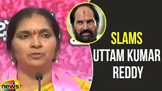 Deputy Speaker Padmaja Reddy slams Uttam Kumar Reddy at Pragathi Bhavan | TRS Meeting | Mango News - MANGONEWS