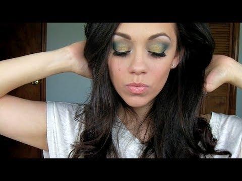 Maquillaje de Verano ♡ Sombras verde y dorada