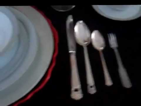 Proper use and placement of dinnerware and silverware