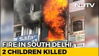 Two Children Died After Fire Broke Out At A Residential Building In Delhi - NDTV