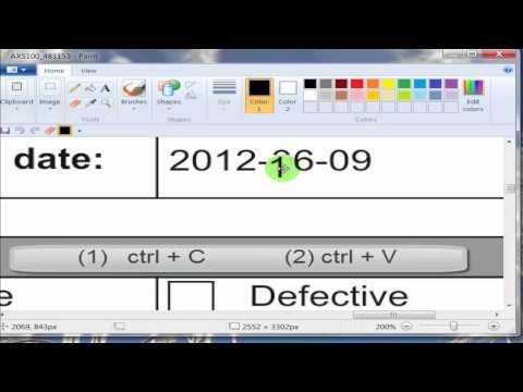 Paint - Cambiar fecha a Documento
