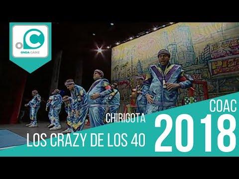 Sesión de Preliminares, la agrupación Los crazy de los 40 actúa hoy en la modalidad de Chirigotas.