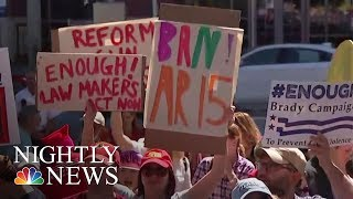 Days After School Shooting in Parkland, Florida, A Gun Show in Miami | NBC Nightly News - NBCNEWS
