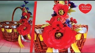 Украшение Пасхальной Корзины . Мастер Класс для Ленивых / Decorated Easter basket