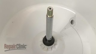 your top loading washing machine is leaking from the back