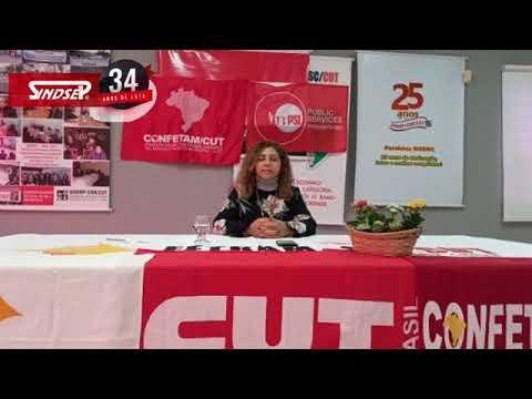 Jocelia Vargas parabeniza ao Sindsep pelos 34 anos de Luta