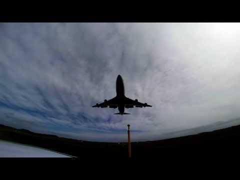 Boeing B747-400 landing at Prestwick filmed with Go-Pro Hero 3+Black